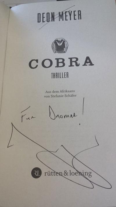 Autogramm von Deon Meyer